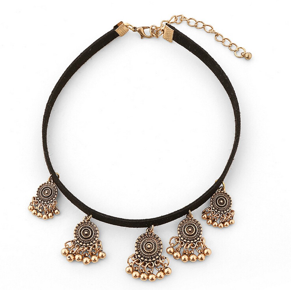 Cdet Women Necklace Bohemia Layers Beads Pendant Choker Necklace Chain Jewellery Love Gift Golden
