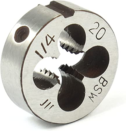 Aexit 20mm Diam/ètre Ext/érieur 7mm Epaisseur 1//4 fil rond BSW Die outil /à main