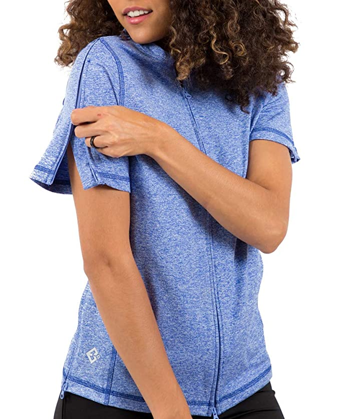 5a2c3e95a343a Womens Adaptive Hospital Gown Open Back Regular & Plus Sizes Clothing,  Shoes & Jewelry
