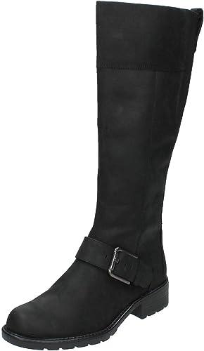 Adversario Esplendor escritorio  Clarks Ladies Knee High Boots Orinoco Jazz - Black Snuff Leather - UK Size  5D - EU Size 38 - US Size 7.5M: Amazon.co.uk: Shoes & Bags
