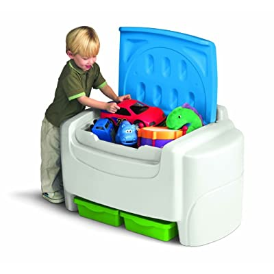 Little Tikes Bright 'n Bold Toy Chest - Green/Blue: Toys & Games