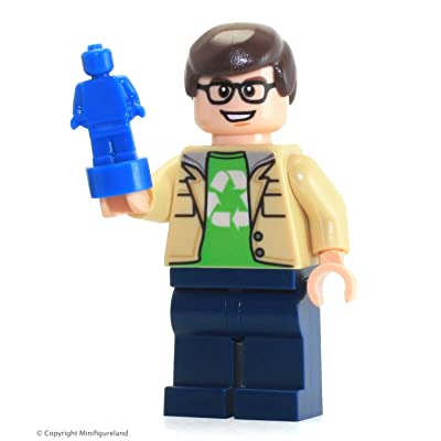 LEGO Ideas Big Bang Theory Minifigure - Leonard Hofstadter (From Set 21302): Toys & Games
