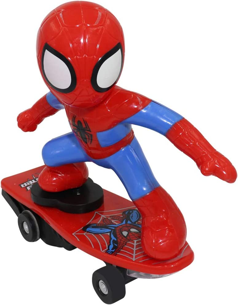Electric 360° Rotating Spiderman Shunt Scooter Music Light Up Kids Toys Gifts US