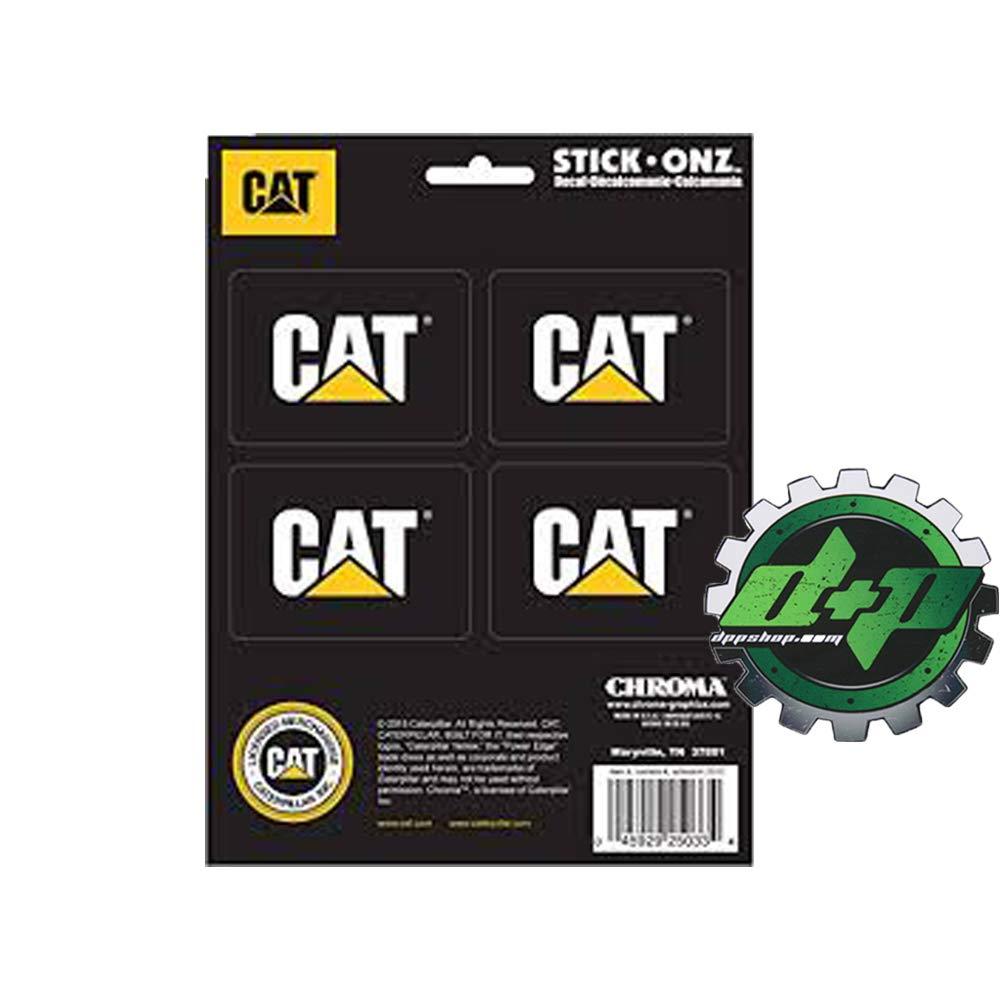 Diesel Power Plus Set of 4 Cat Caterpillar Sticker Decal Semi Truck Motor