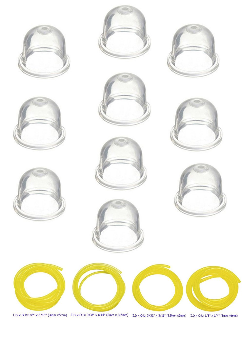 Replacement Transparent Primer Bulbs Parts For Shindaiwa 188-12-1 188-12 Set