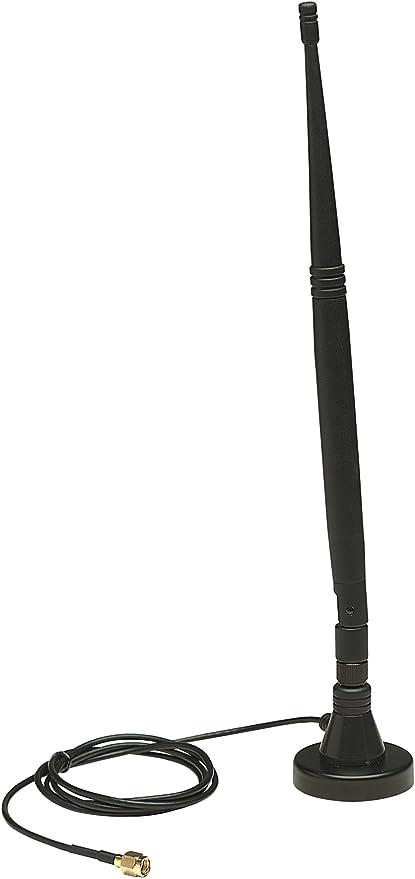 Intellinet 524018 - Antena (7 dBi, 2.4-2.5 GHz, 50 Ω, 360°, 21,6°, Polarización Vertical)