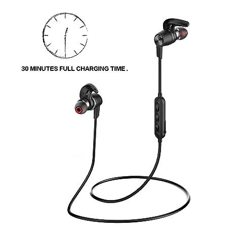 Origem 30min Carga 12 Horas Auriculares Bluetooth 4.1 IP67 Deportivos Cascos Inalambricos Estéreo APTX Cancelación De