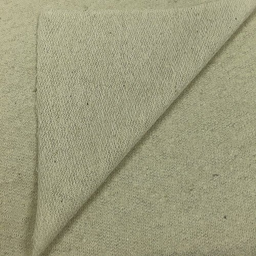 USA-Made-Premium-Quality-HempOrganic-Cotton-French-Terry-Fabric-by-the-Yard-Natural-1-Yard