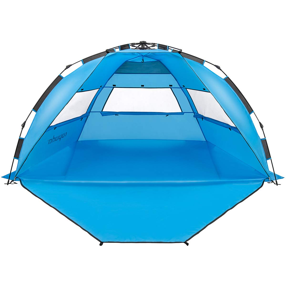 ROPODA Pop Up Beach Tent - Easy to Set Up, Portable Beach Shade with UPF 50+ UV Protection for Kids & Family (Blue) by ROPODA