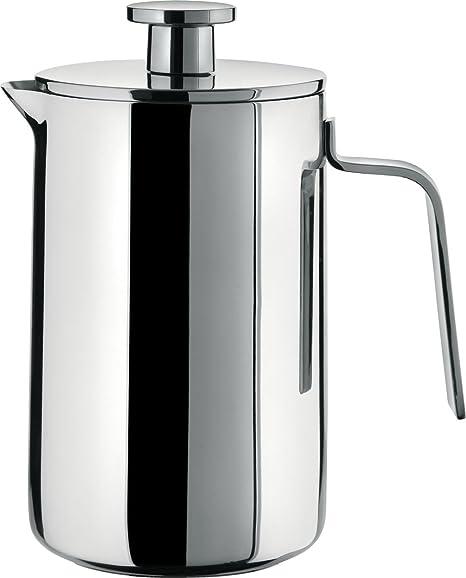 Alessi Adagio - Cafetera Italiana de Acero Inoxidable para cocinas de inducción, 8 Tazas: Amazon.es: Hogar