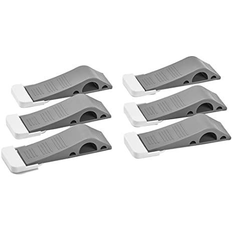 MC MIRACASE Rubber Door Stoppers | Premium Heavy Duty Door Stop | 6 Pack  Gray Rubber