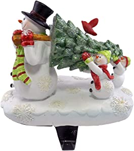 Party Explosions Snowman Family Carrying Tree Christmas Stocking Holder