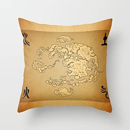 Amazon.com: Luase Couch Pillows Covers 18 inch Avatar Last Airbender ...
