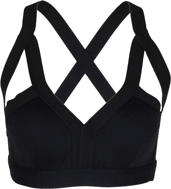 Amazon.com: sportmusies Mujer brasier deportivo, espalda ...