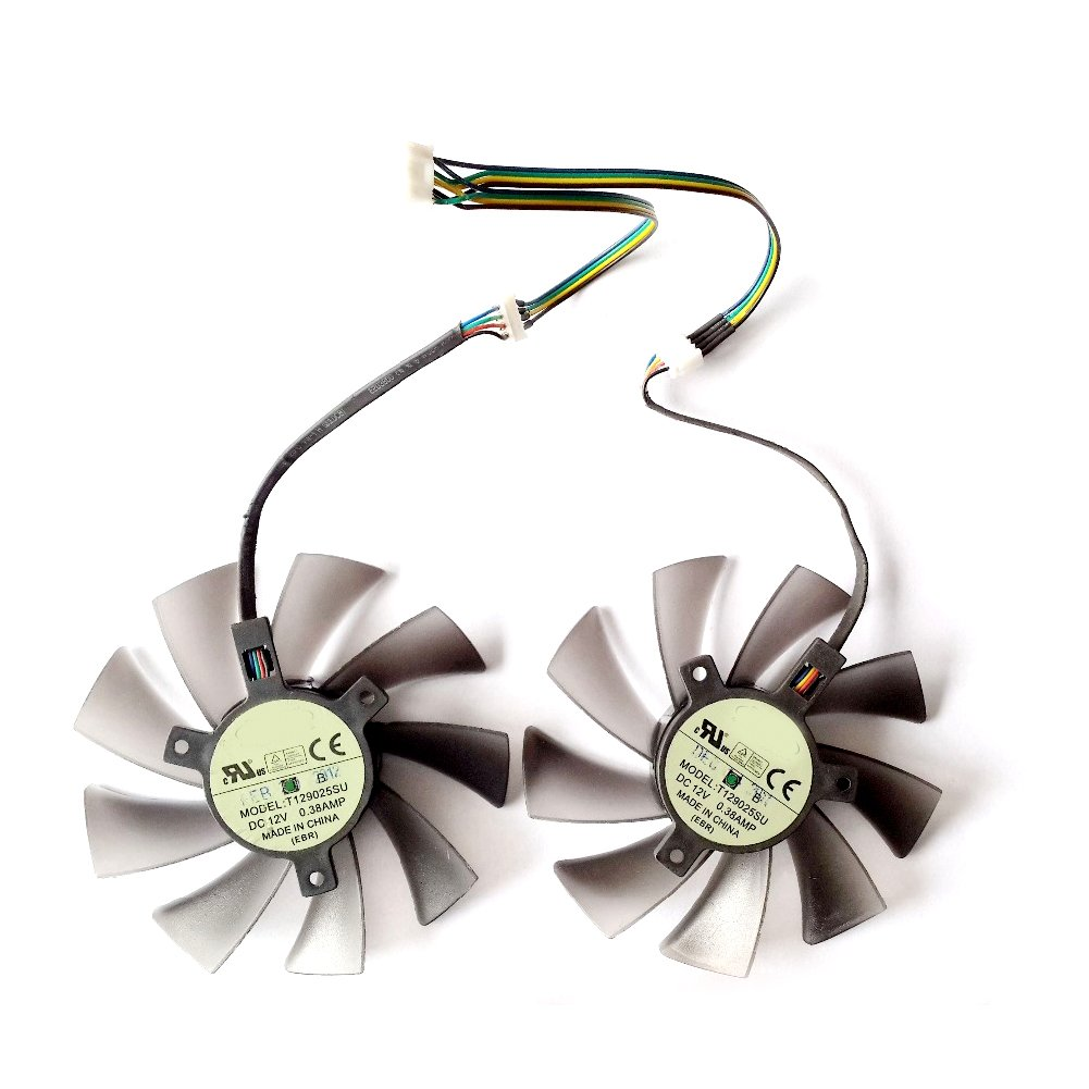 Galleon - 2 Pcs/lot T129025SU DC Graphic Card Fan 95mm For