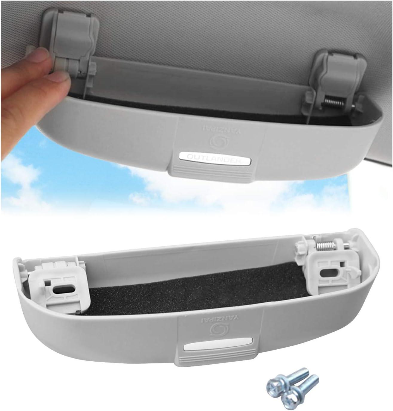 YEE PIN Funda para gafas de sol para Mitsubish i Eclipse Cross/Outlander/Outlander Sport Auto Parasol Organizador de gafas de sol para coche