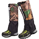 EForCrazy Outdoor Men's Waterproof Breathable Unisex Double Sealed Snake Gaiter Hiking Mountain Leg Protection Bug Out Camouflage Gaiters