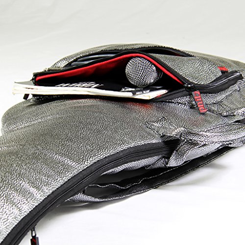 Electric Guitar Case Silver Party Lizard by Phitz
