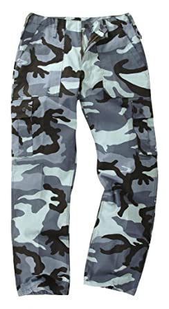 caf8fecc51 Youths/Kids Military Combat Cargo Trousers - Camo: Amazon.co.uk: Clothing