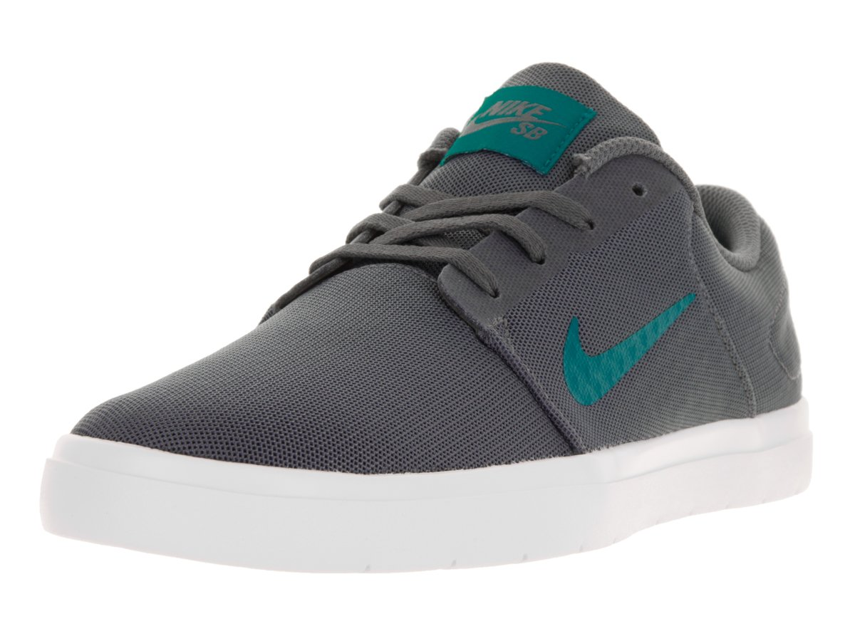 NIKE Mens SB Portmore Ultralight Mesh Breathable Skate Shoes 8 D(M) US|Wolf Grey / Cool Grey-white