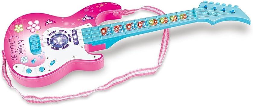 MRKE Guitarra Electrica Niños 4 Cuerdas 1:1 Cuerdas Ajustable ...