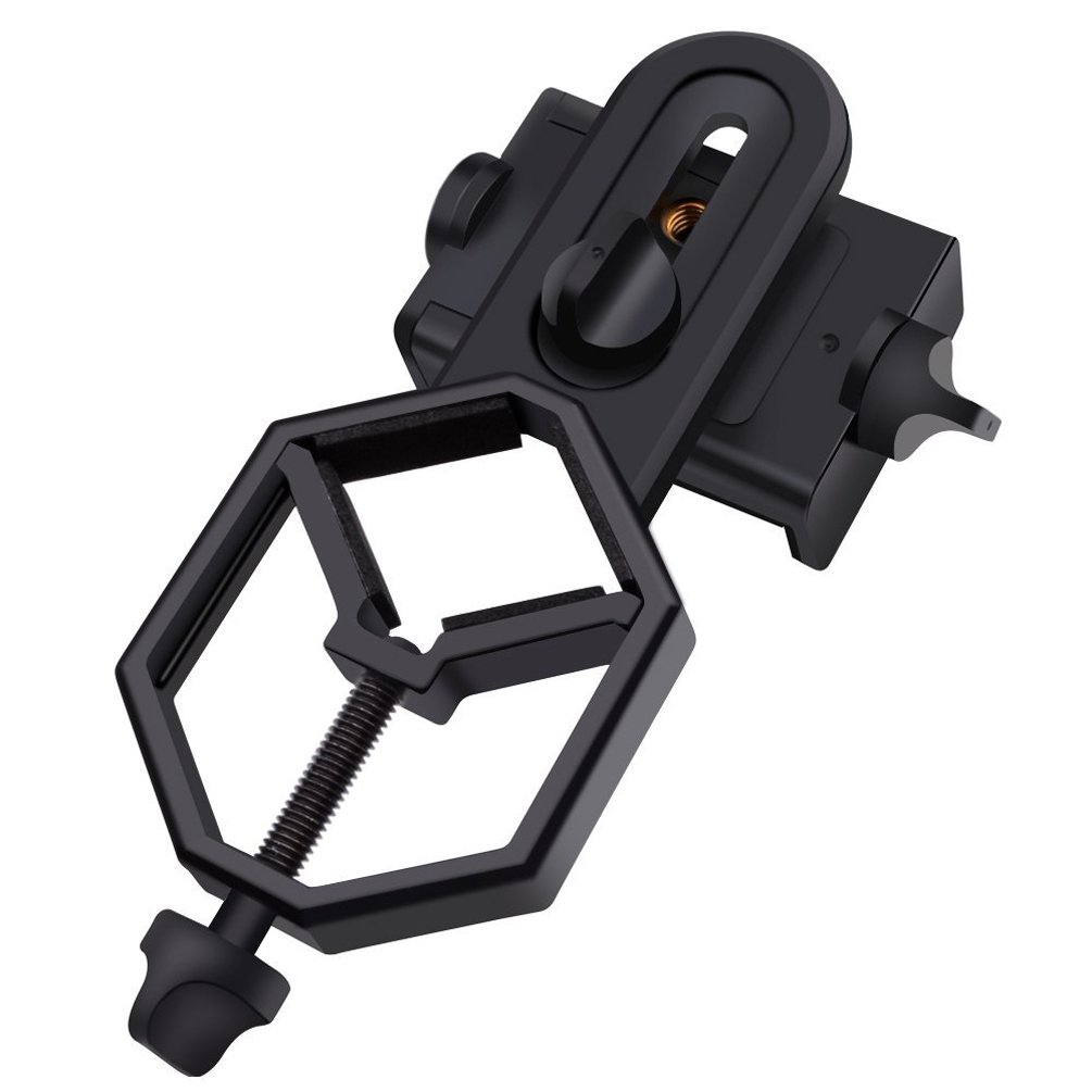 [Cyber Monday Deals]Universal Smart Phone Adapter Holder, LuckyOne Compatible with Universal Digiscoping Binocular, Telescope, Microscope, Monocular,Spotting Scope Etc - For iPhone Samsuang Sony Huawei Etc CL