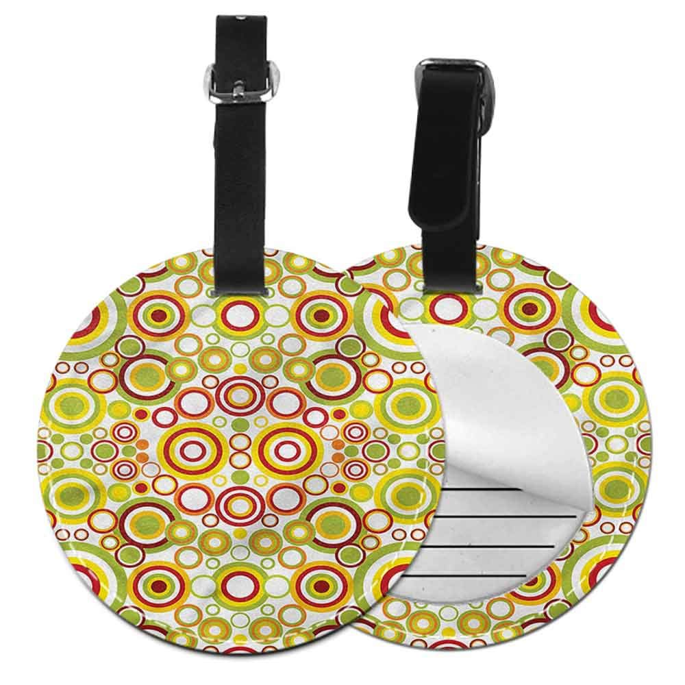 Boarding Tags Luggage Tag Geometric,Fun Squares Artistic Portable Label
