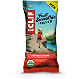 CLIF Fruit Smoothie Filled - Organic Energy Bars - Strawberry Banana - (1.76 Ounce Protein Snack Bars, 12 Count)
