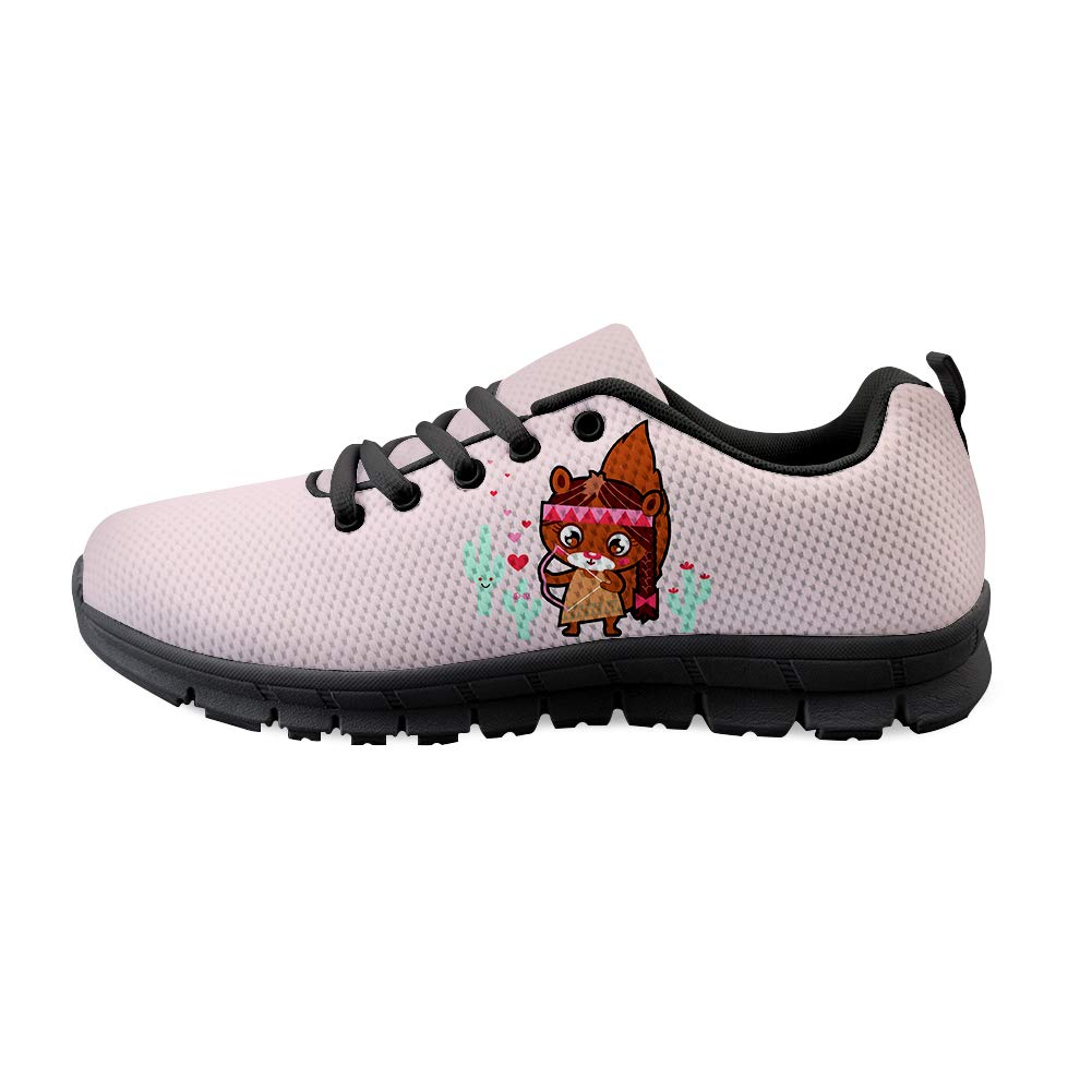 Owaheson Lace-up Sneaker Training Shoe Mens Womens Cactus Indian Squirrel Female Cupid Archer
