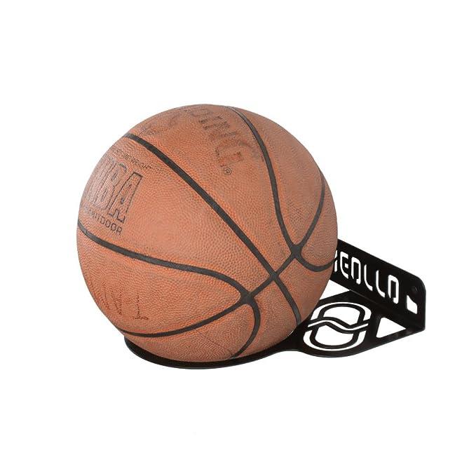 MEOLLO Soporte para balón de Baloncesto (100% Acero) (Blanco ...