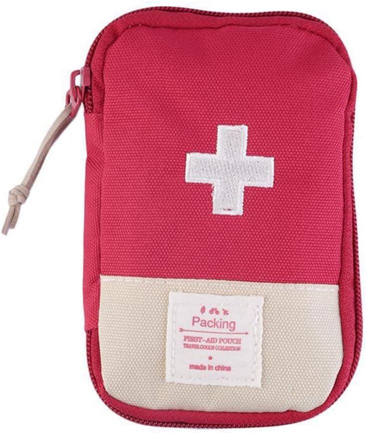 port/átil p/íldora Medicina Organizador al Aire Libre Primeros Auxilios Emergencia m/édica Supervivencia Kit Bolsa de Viaje YHLVE Botiquin de Primeros Auxilios Bolsa