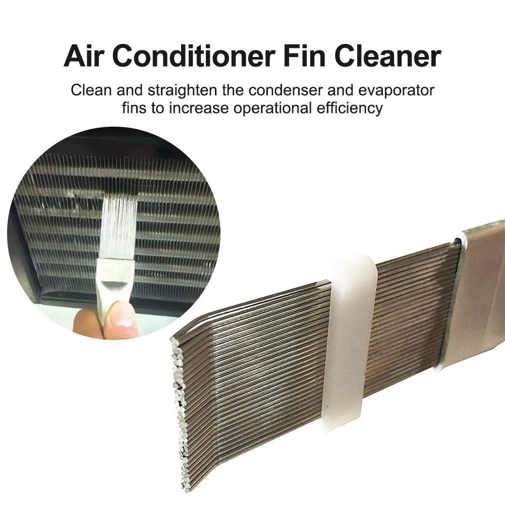 Sanmubo 2pcs Comb Air Conditioning Condenser Cooling Brush Evaporator Fins Combing Comb Air Conditioner Fin Cleaner