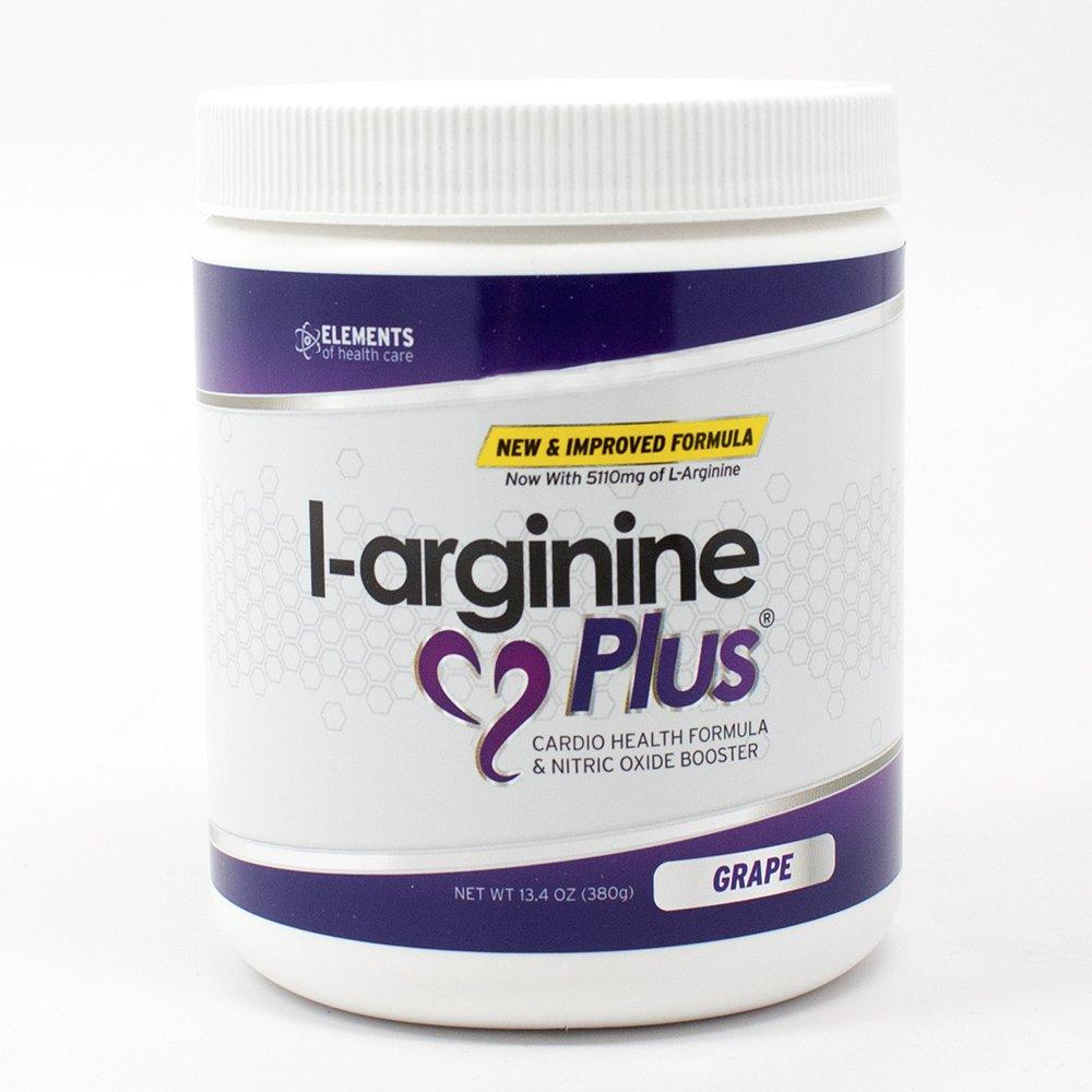 L-arginine Plus® #1 L-arginine Supplement - 5110mg L-arginine & 1010mg L-citrulline Vitamins & Minerals to Support Blood Pressure, Cholesterol and More 13.4 ounce, Grape by L-arginine Plus