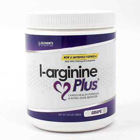 L-arginine Plus 1 L-arginine Supplement – 5110mg L-arginine 1010mg L-citrulline Vitamins Minerals to Support Blood Pressure, Cholesterol and More 13.4 ounce, Grape