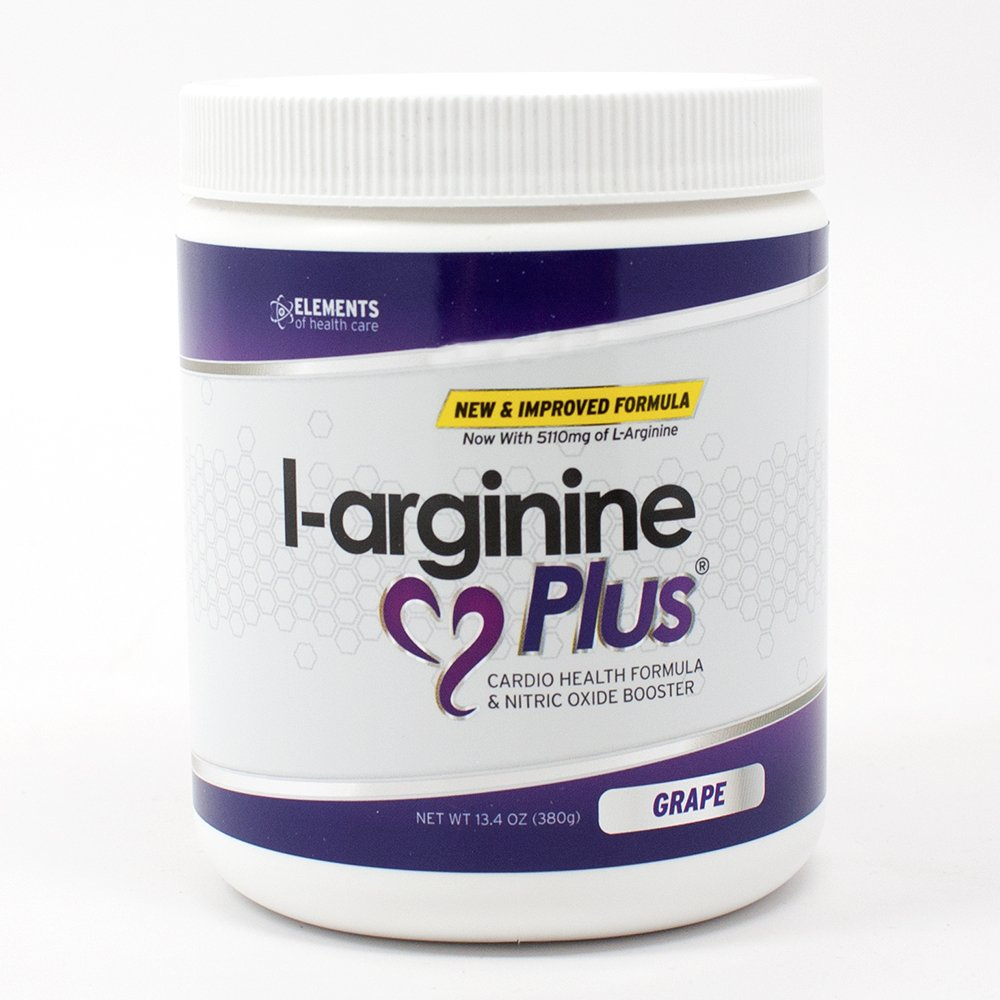 L-arginine Plus® #1 L-arginine Supplement - 5110mg L-arginine & 1010mg L-citrulline Vitamins & Minerals to Support Blood Pressure, Cholesterol and More 13.4 ounce, Grape