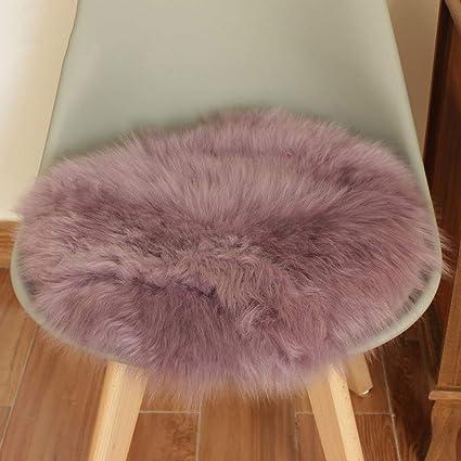 Amazon.com: YYJF Imitation Sheepskin Rug Round pad for Chair ...