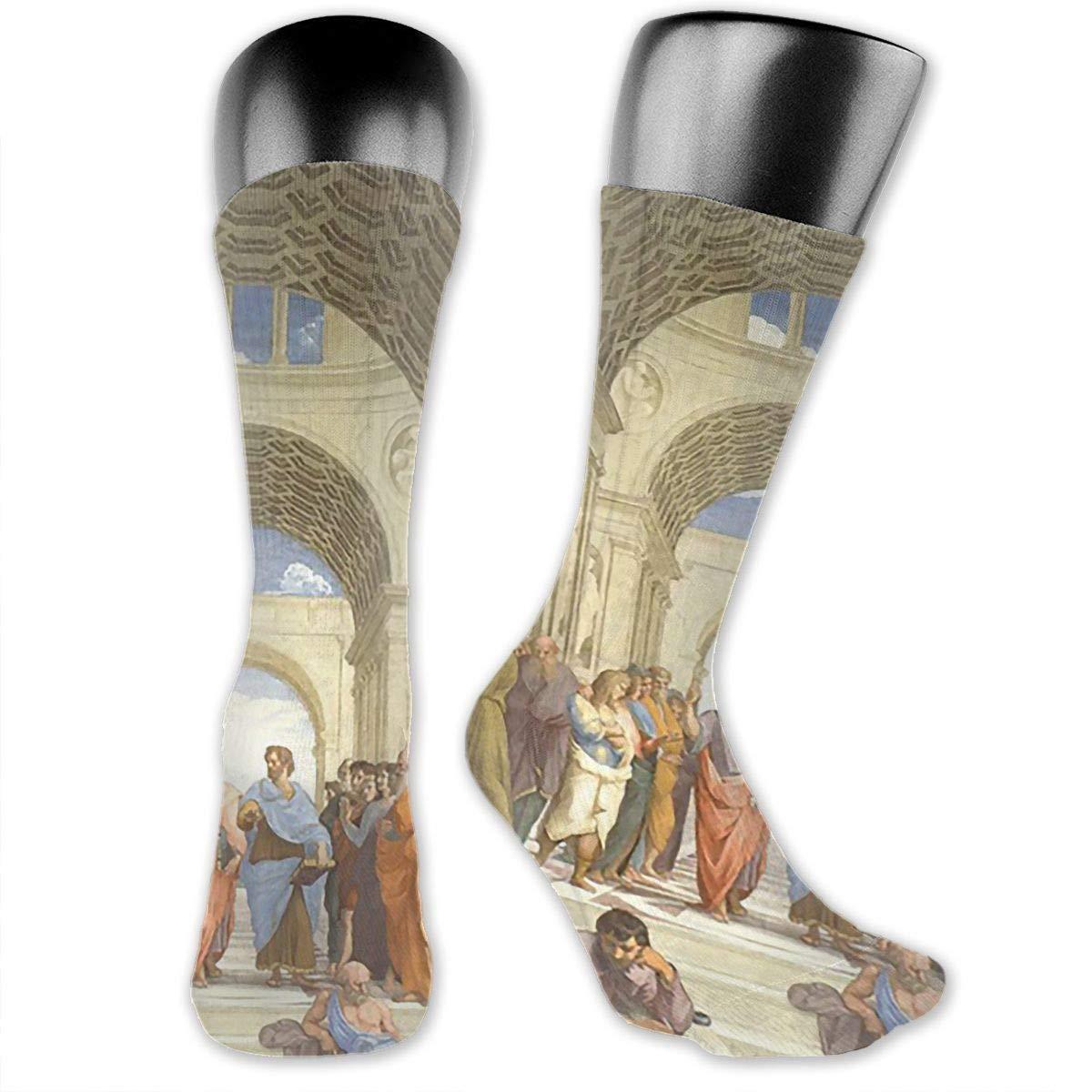 Renaissance Art Church Mens Dress Socks Novelty Crew Socks 15.7