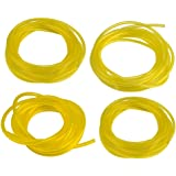 """HIPA (4 Size) 4-Feet-Long Fuel Line Hose Tube I.D. x O.D. 3/32"""" x 3/16"""" 1/8"""" x 3/16"""" 1/8"""" x 1/4"""" .080"""" x .140"""" for Poulan Craftman Chainsaw String Trimmer Blower"""