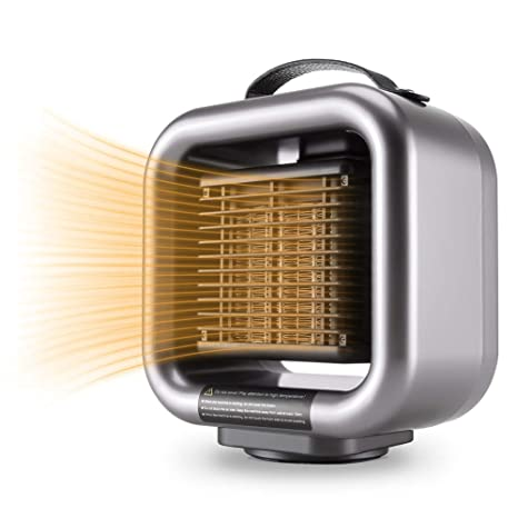 Mumba Mini Space Heater, 650W/1000W Fan Heater PTC Ceramic Heating with  Thermostat & Tip Over Protection, Portable Oscillating Small Heater for  Home, ...