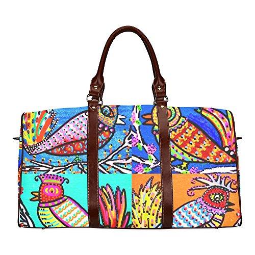 Talavera Birds Of Paradise Waterproof Travel Tote Bag Duffel Bag Crossbody Luggage - Tote Of Bird Paradise
