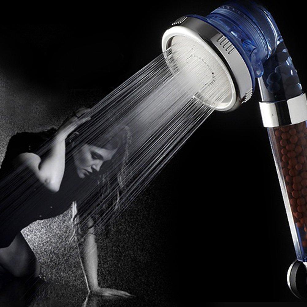 8/* 22/cm ad alta pressione e filtraggio acqua risparmio soffione doccia palmare con ioni negativi minerale perline per bagno Per filtro doccia doccetta Lonic