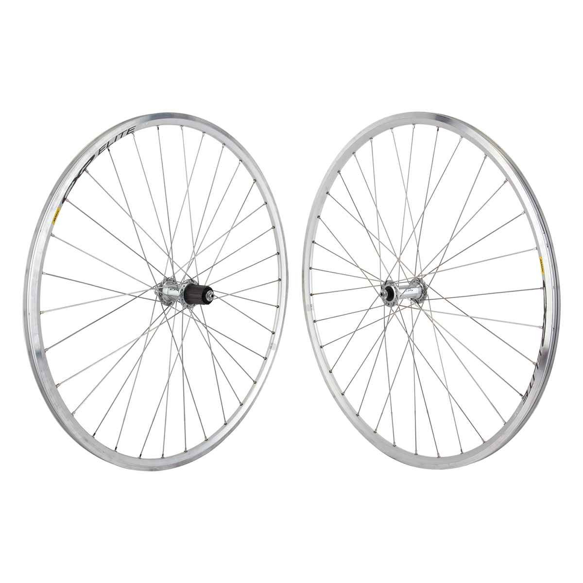 Mavic Elite Silver Road Bike Wheelset Shimano 105 5800 9 10 11Speed Hub fit SRAM