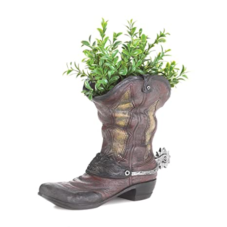 Image Unavailable - Amazon.com : Patio Planters, Decorative Outdoor Planters, Polyresin