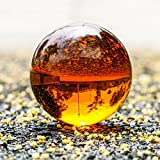 H&D Crystal Meditation Ball Globe 100 Mm,Sapphire Blue Clear, Free Stand (Amber)