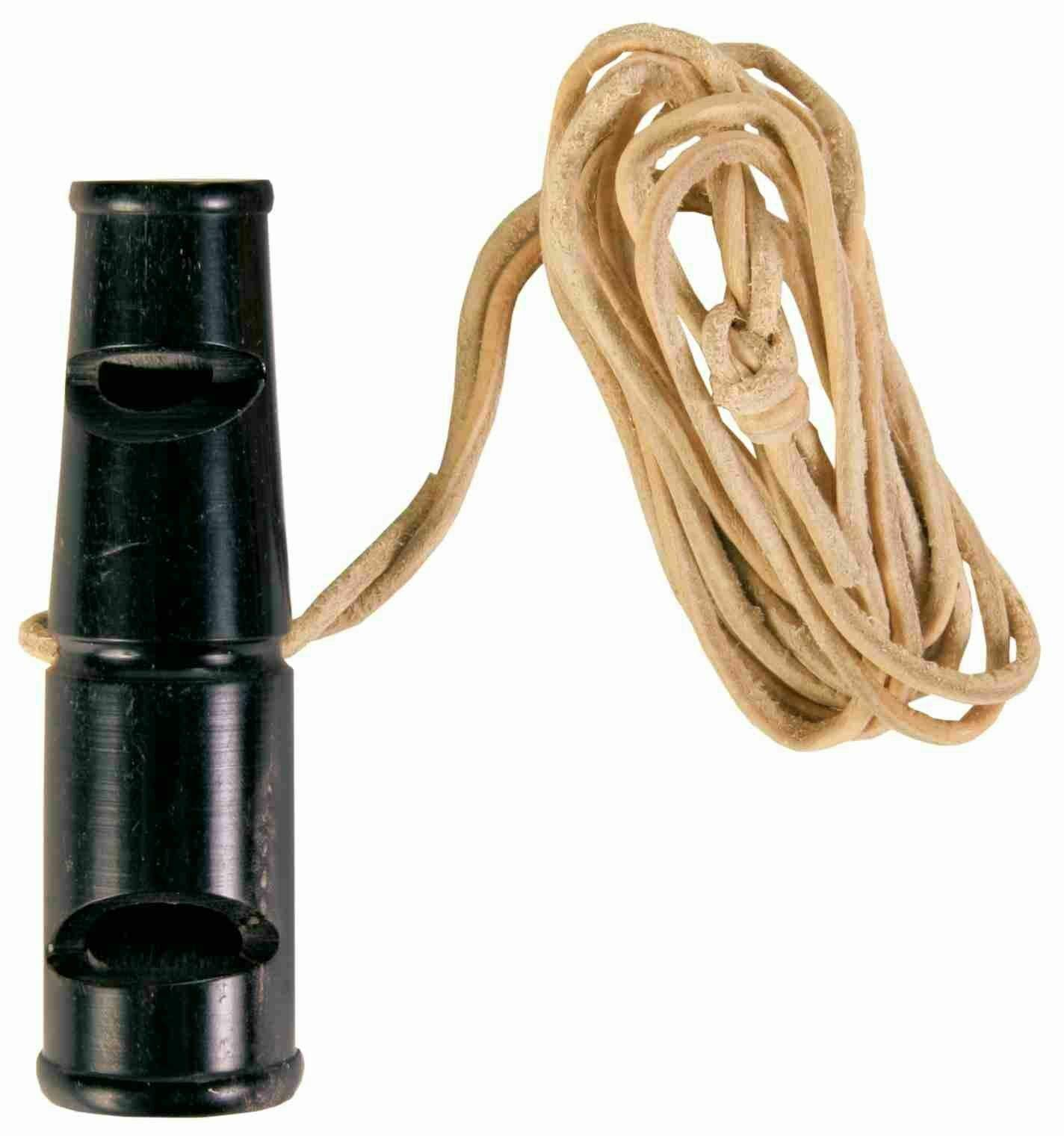 Buffalo Horn Whistle, 6 cm. Two-Tone: Whistle and Trill Tone (Ideal for Training and Hunting) by Trixie