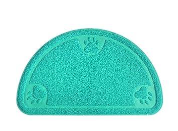 Authda Alfombrilla de Arena para Gatos no tóxica PVC Goma de Espuma Duradera fácil de Limpiar para Proteger el Suelo con Forma semicircular: Amazon.es: ...