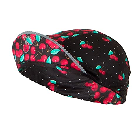 98c8742a7 Shebeest 2018 Women s Femme Cherry Pie Cycling Cap - 3653 (Cherry Pie-Black  -
