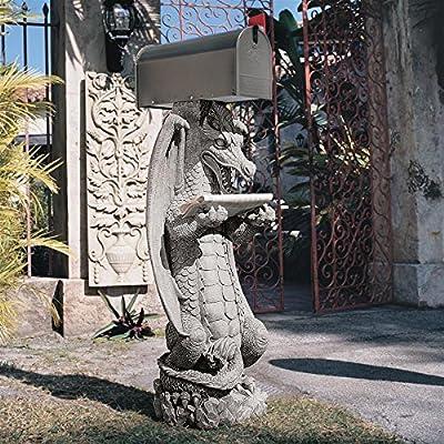 Design Toscano Zippy, the Dragon Sculptural Mail Post : Outdoor Statues : Garden & Outdoor