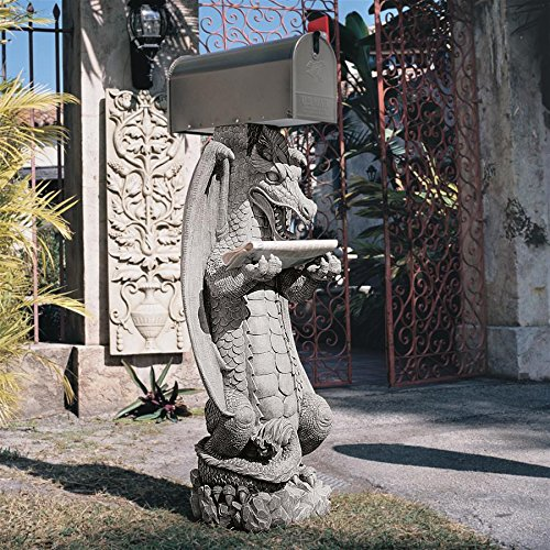 Front Claw Replica - Design Toscano Zippy, the Dragon Sculptural Mail Post