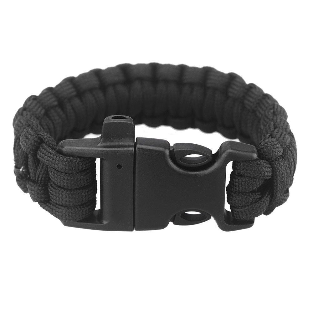 TOOGOO(R)Paracord Fallschirm Schnur dringend ueberleben Armband Seil mit Pfeife Schnalle fuer Outdoor Camping TOOGOO£¨R£©